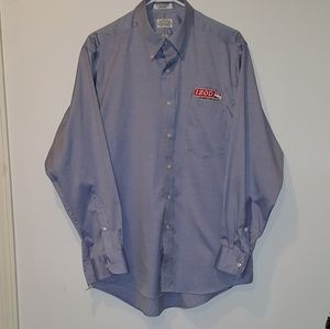 Mens Izod IndyCar Series Long Sleeve Button Down